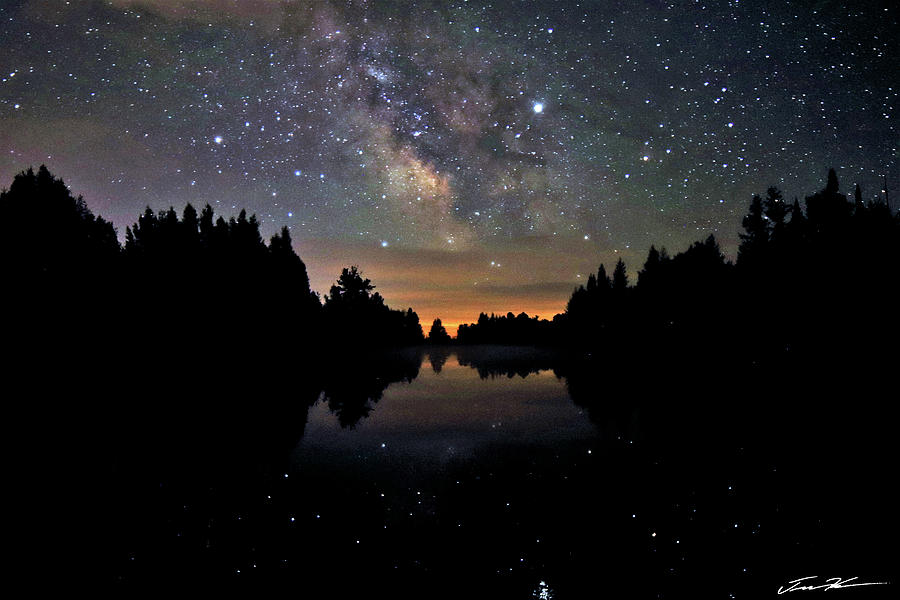 Milky Way at the Pond by Tim Kuret