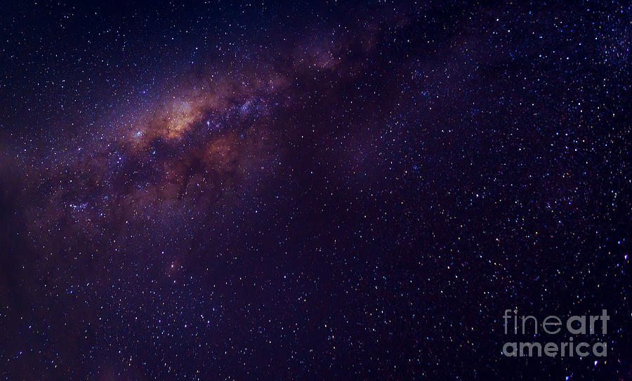 Big Photograph - Milky Way Galaxy With Stars And Space by Avigator Fortuner