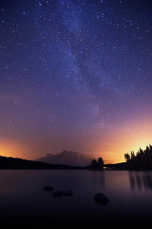 Milky Way In Banff Photograph by Dan prat
