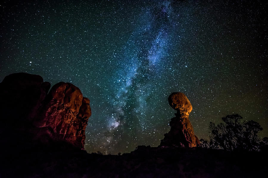 Milky Way Over Balanced Rock Photograph