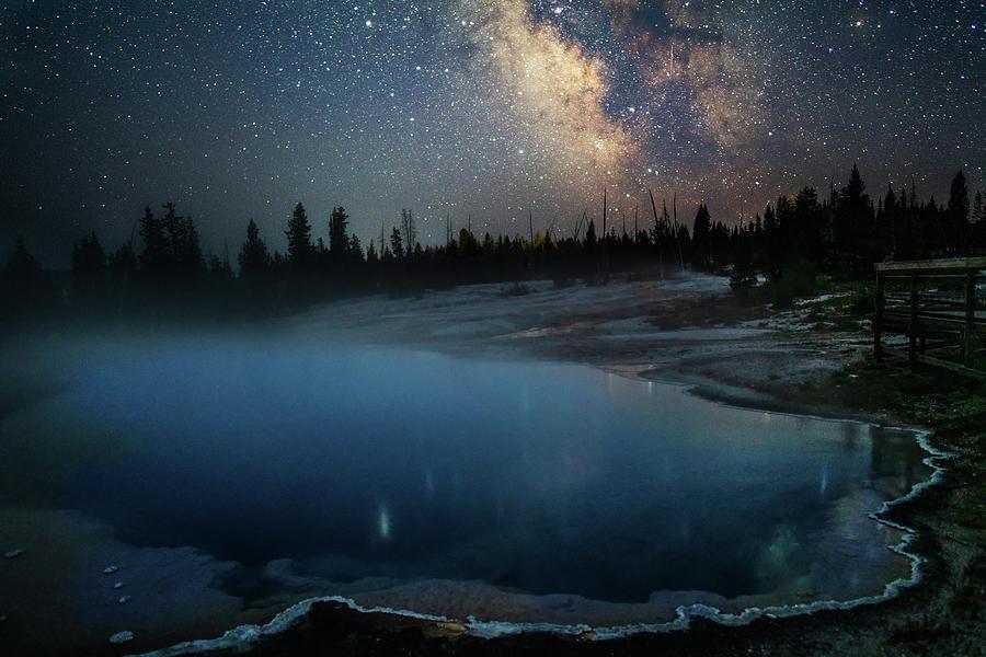 Milky Way Over Black Pool by Eilish Palmer