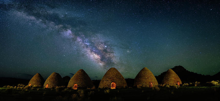 Milky Way Over Charcoal Ovens by Michael Ash