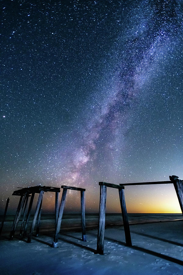 Milky Way Over Gulf Pier by Kurt Lischka