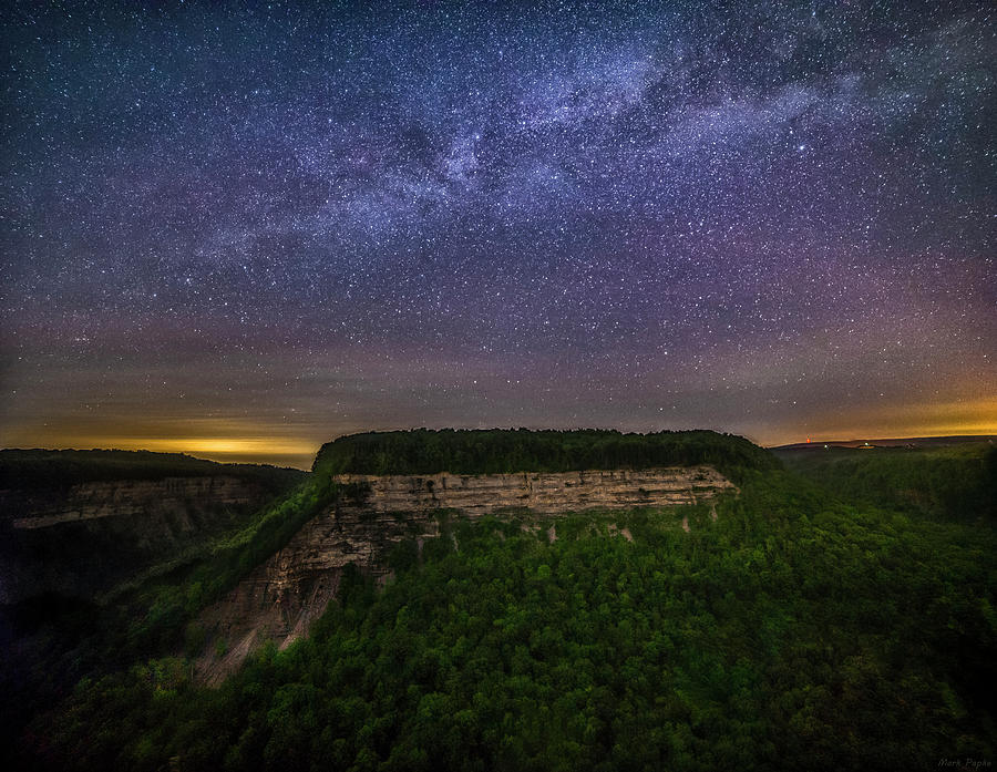 Milky Way Over Letchworth Great Bend by Mark Papke