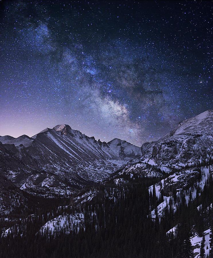Milkyway Photograph - Milky Way Over Longs Peak by Mei Xu