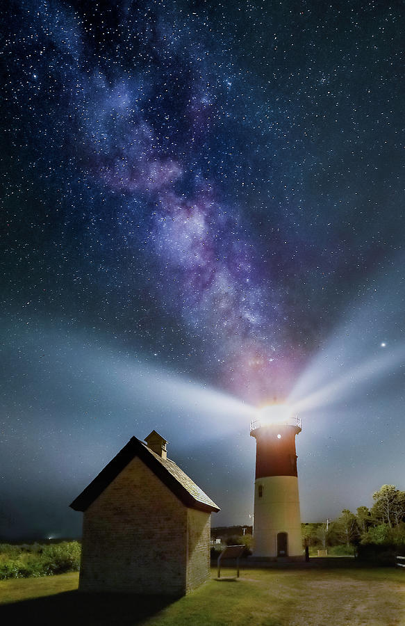 Milky Way over Nauset Lighth by Juergen Roth