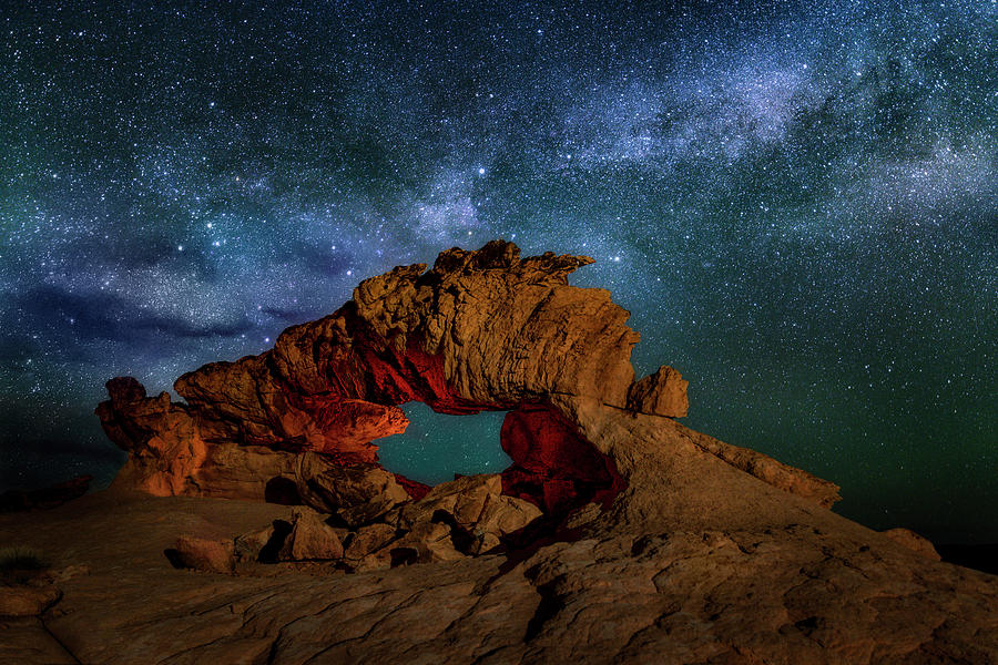 Milky Way over the Dragon by Michael Ash
