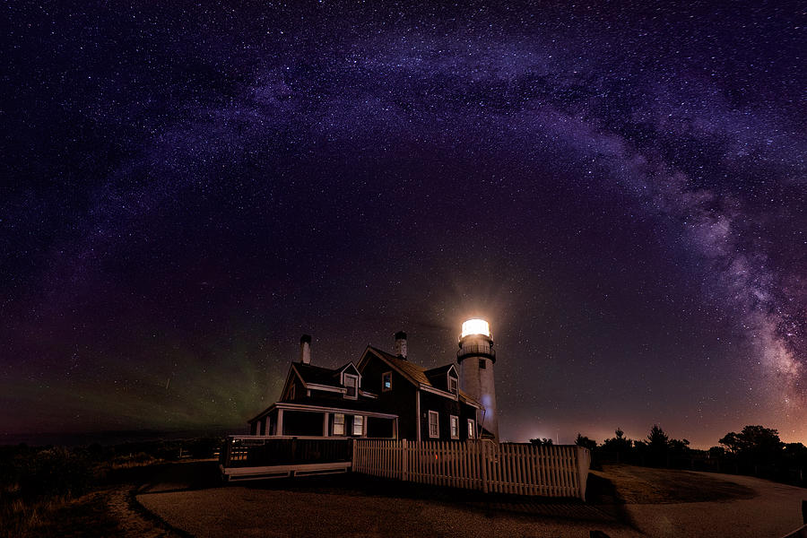 Milky Way Over The Highland Lighthouse Photograph by April Chai