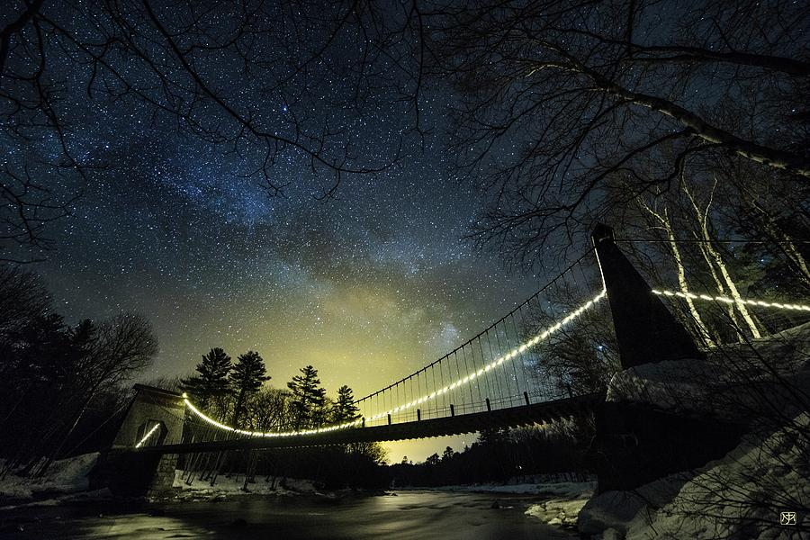 Milky Way Over the Wire Bridge by John Meader