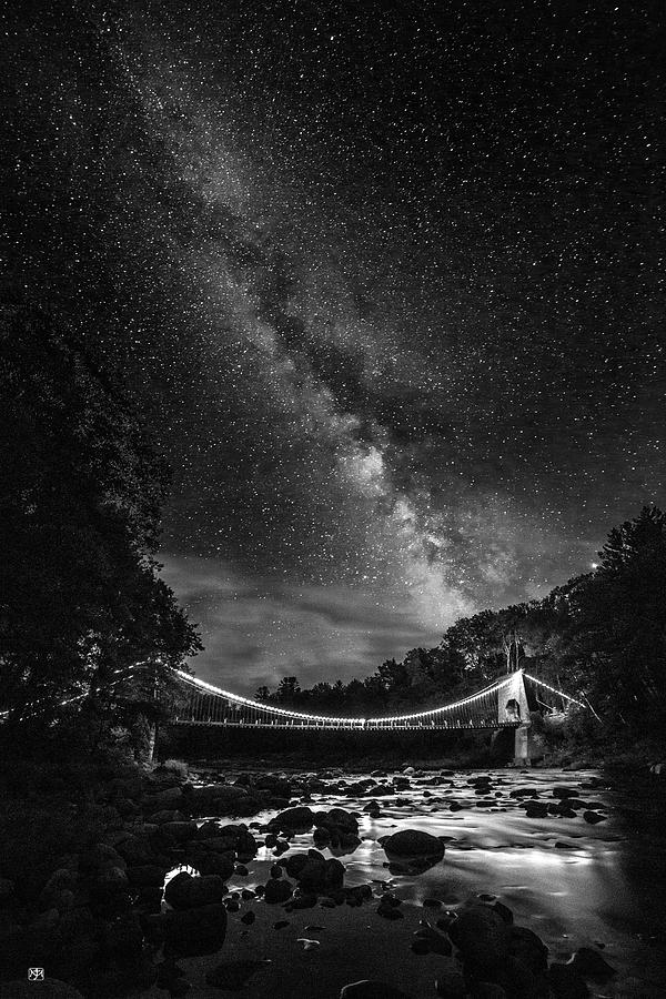 Milky Way Over Wire Bridge 2 by John Meader