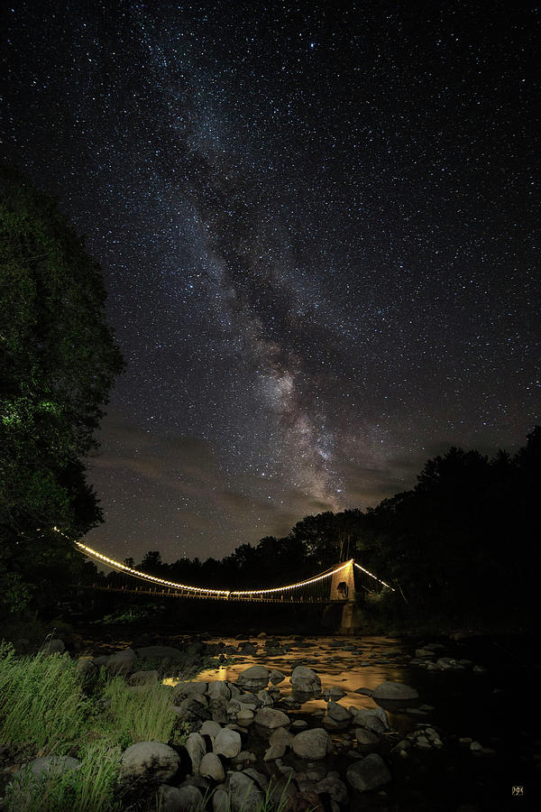 Milky Way Over Wire Bridge1 by John Meader