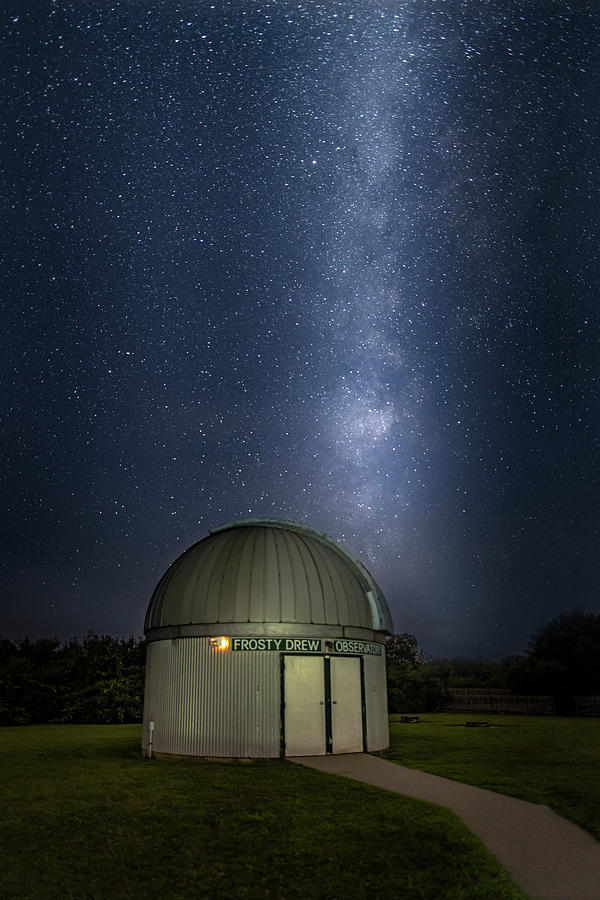Milky Way Rising Over Observatory by Susan Candelario