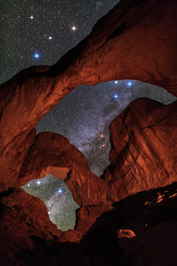 Milky Way Skylights At Double Arch Photograph