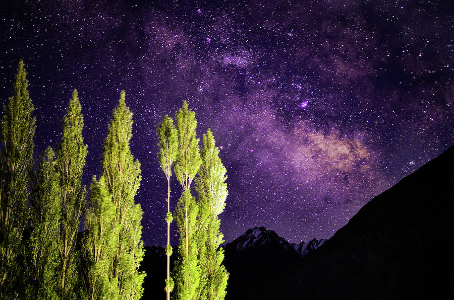 Milkyway And The Himalayas Photograph by Puneet Vikram Singh, Nature And Concept Photographer,