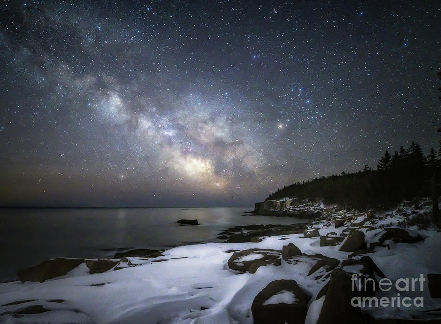Milkyway At Otter Cliffs Photograph