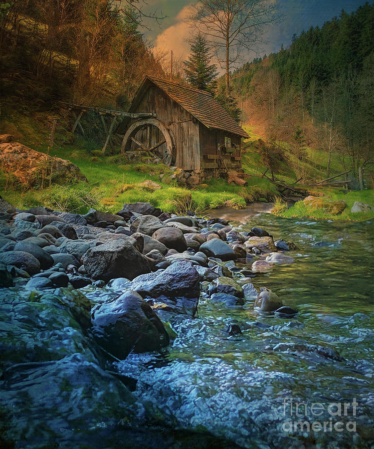 Mill at Sunset by Kathy Kelly