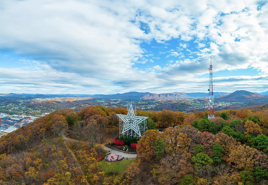 Mill Mountain Star Fall Foliage by Star City SkyCams