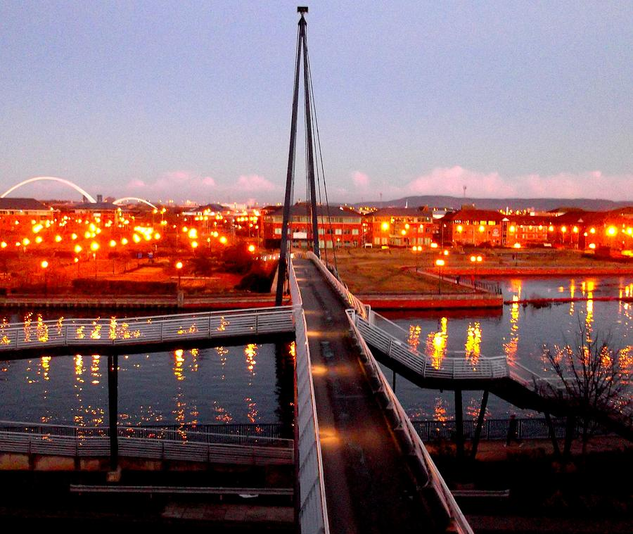 Millenium Footbridge, Stockton-on-tees Photograph by Picture By Paul Walker