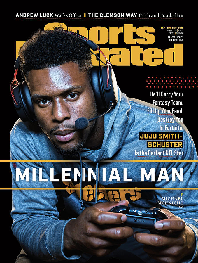 Millennial Man Pittsburgh Steelers Juju Smith-schuster Sports Illustrated Cover Photograph by Sports Illustrated