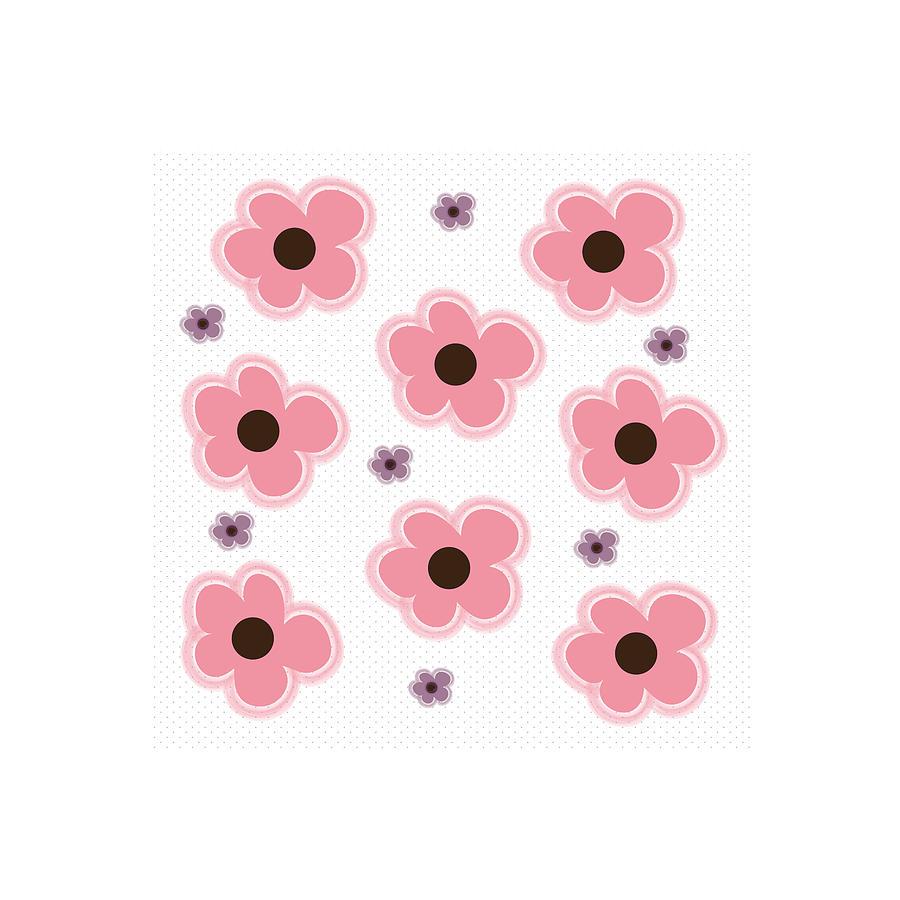 Millennial Pink Floral Pattern Digital Art By Pepper Brooks