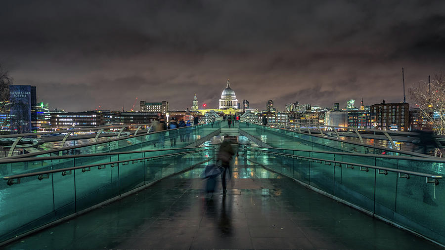 Millennium Bridge and St Pauls by James Billings