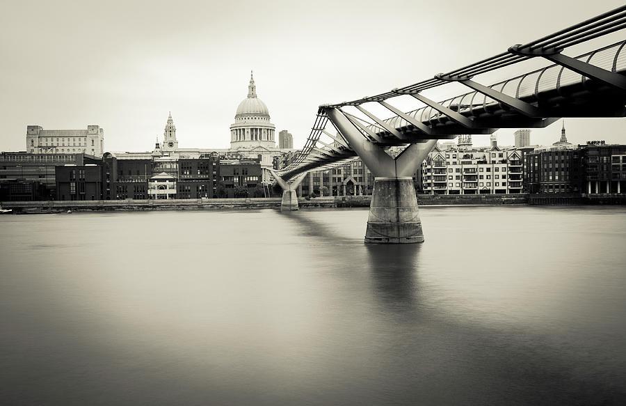 Millennium Bridge In London Photograph by Lightkey