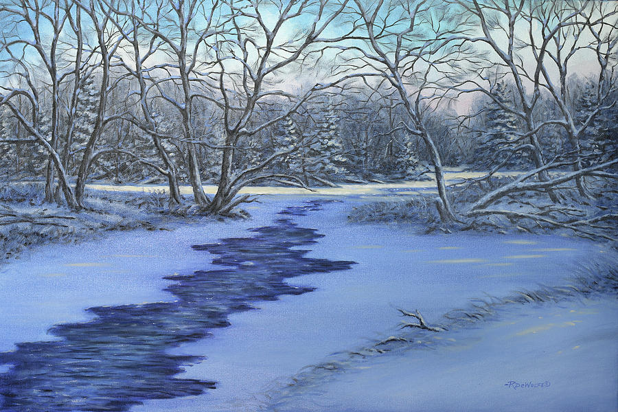 Millhaven Creek In Winter by Richard De Wolfe