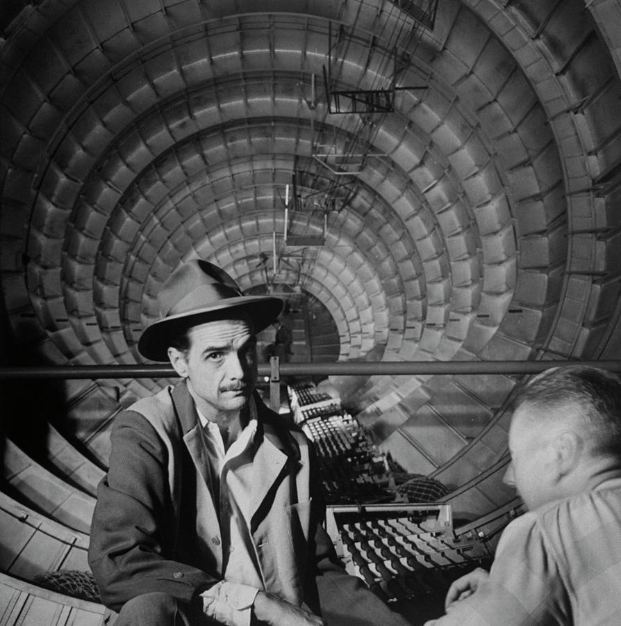 Millionaire Howard Hughes In Cockpit Of Photograph by J. R. Eyerman