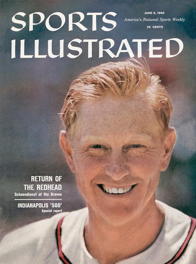 Milwaukee Braves Red Schoendienst Sports Illustrated Cover Photograph by Sports Illustrated
