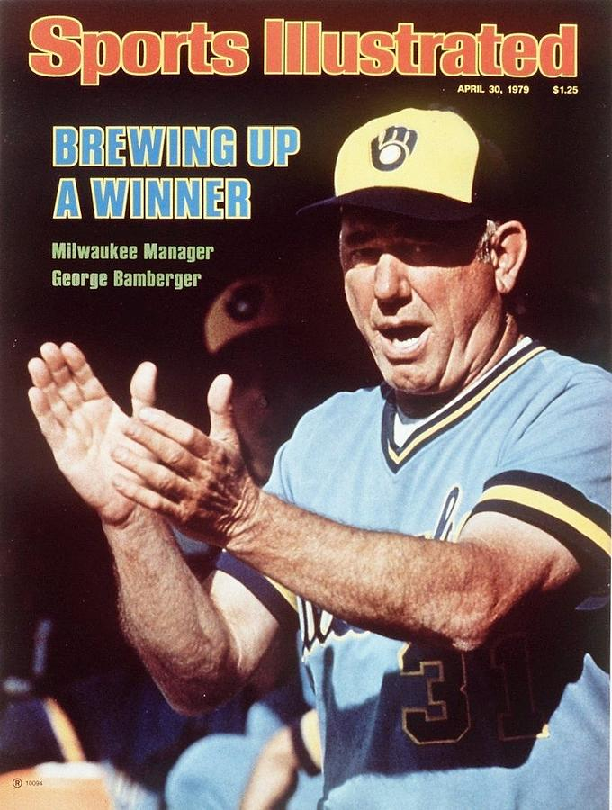 Milwaukee Brewers Manager George Bamberger Sports Illustrated Cover Photograph by Sports Illustrated