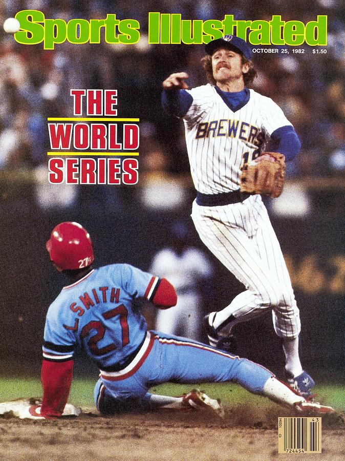 Milwaukee Brewers Robin Yount, 1982 World Series Sports Illustrated Cover Photograph by Sports Illustrated