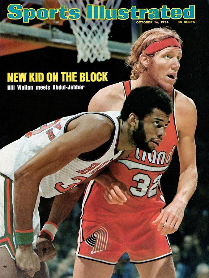 Milwaukee Bucks Kareem Abdul-jabbar And Portland Trail Sports Illustrated Cover Photograph by Sports Illustrated