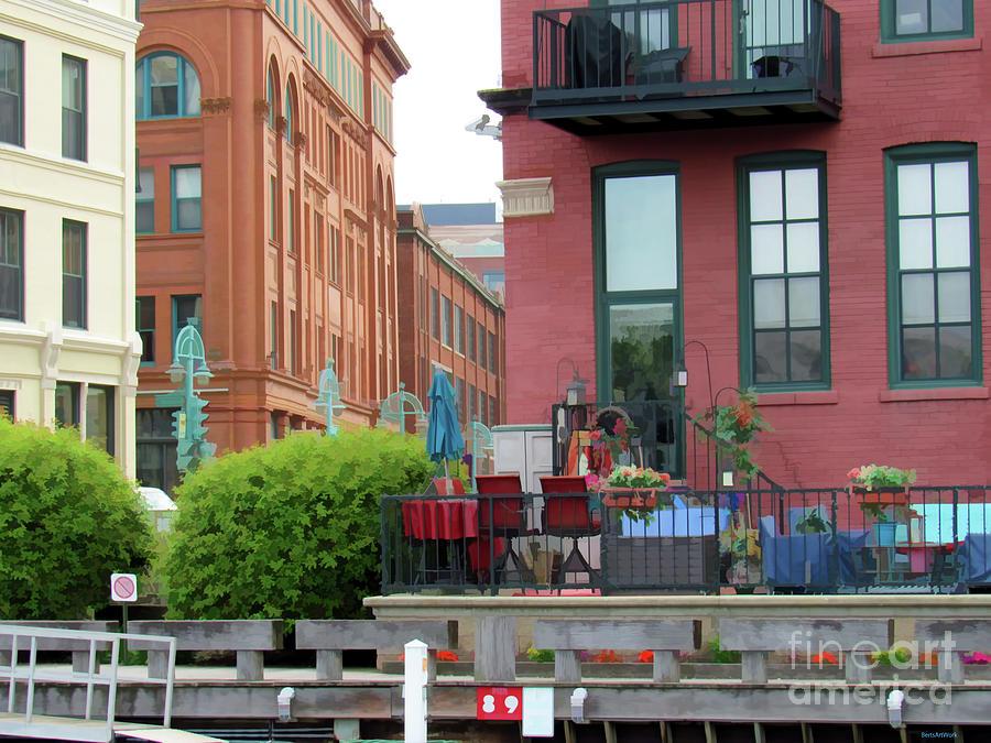 Milwaukee Third Ward on the Water by Roberta Byram
