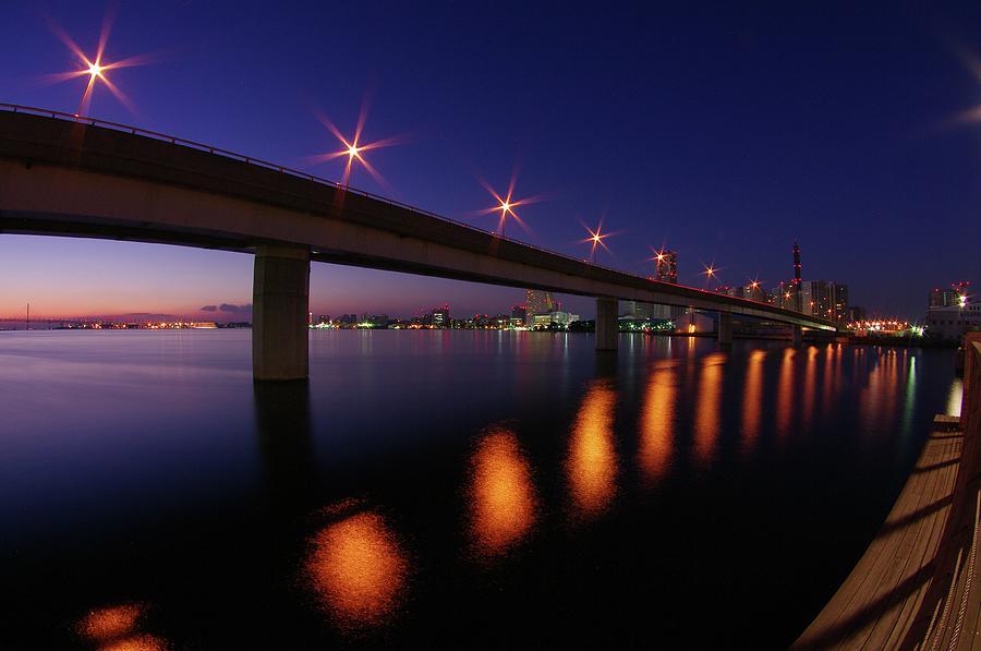 Minato Mirai District Before Dawn Photograph by Hitoshi Nishimura