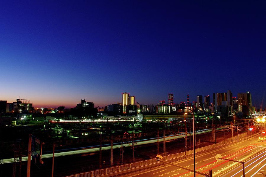Minato Mirai Pre-dawn Photograph by Hitoshi Nishimura