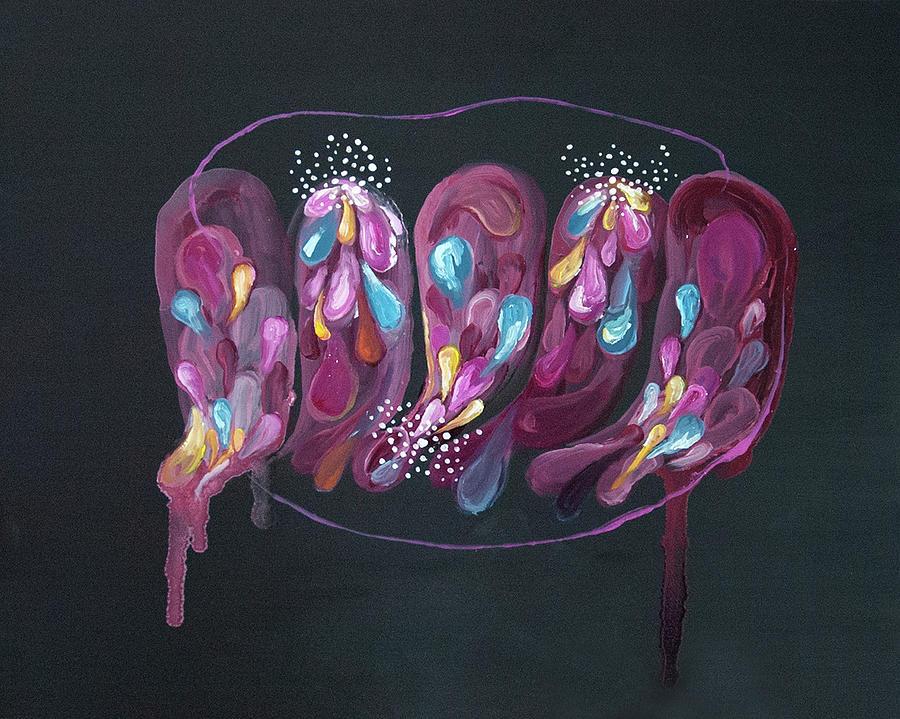 Woman Painting - Mind #08 by Natsumi Yamaguchi
