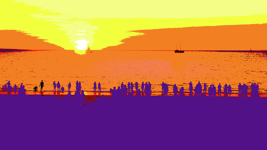 Mindil Beach Sunset #4  - Pop Art by Lexa Harpell