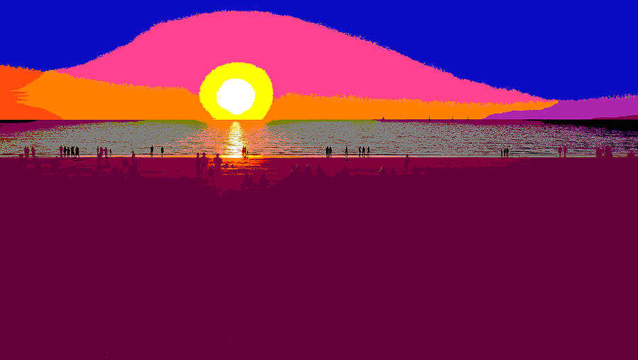 Mindil Beach Sunset - Pop Art by Lexa Harpell