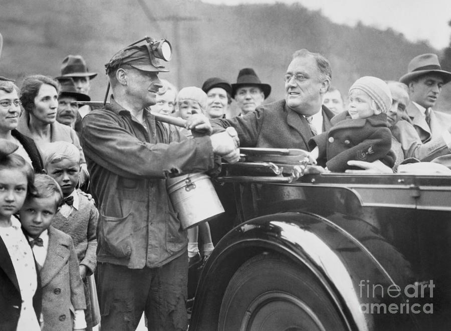 Miner Shakes Hands With Governor Photograph by Bettmann