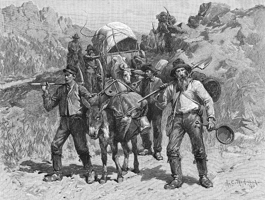 Miners During The California Gold Rush Photograph by Kean Collection