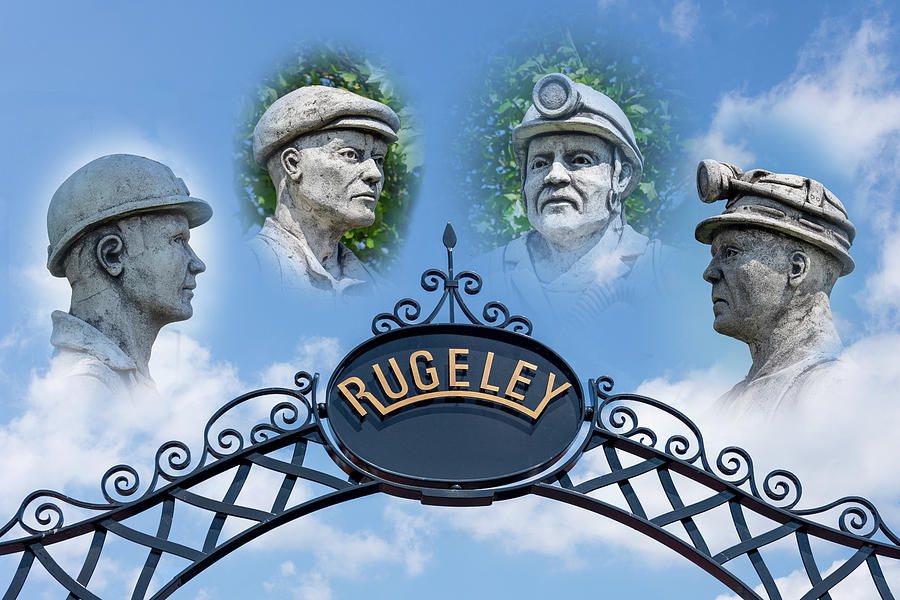 Rugeley Photograph - Miners Of Rugeley by Steev Stamford