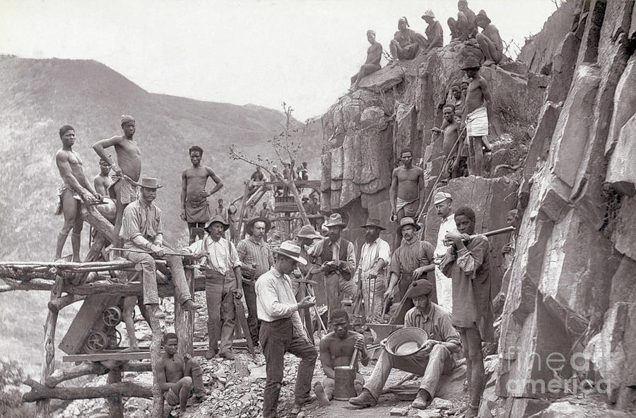 Miners Outside Gold Photograph by Bettmann