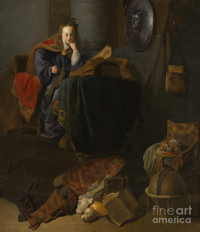 Rembrandt Painting - Minerva, 1630  by Rembrandt