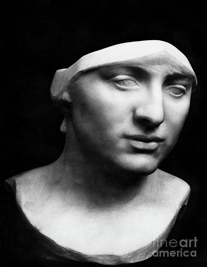Minerva Sculpture - Minerva Without Helmet, 1896 by Rodin