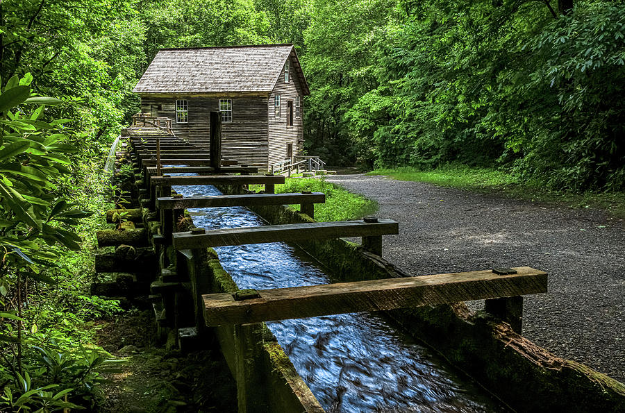 Mingus Mill in the Great Smoky Mountains by Carl Amoth
