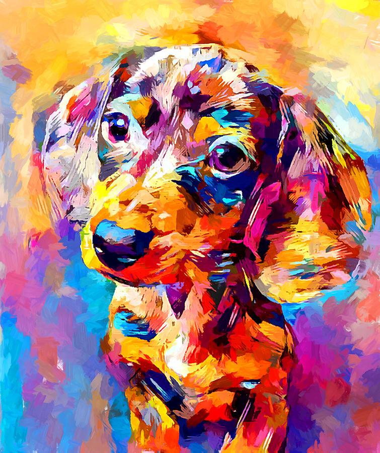 Mini Dachshund Painting - Mini Dachshund by Chris Butler