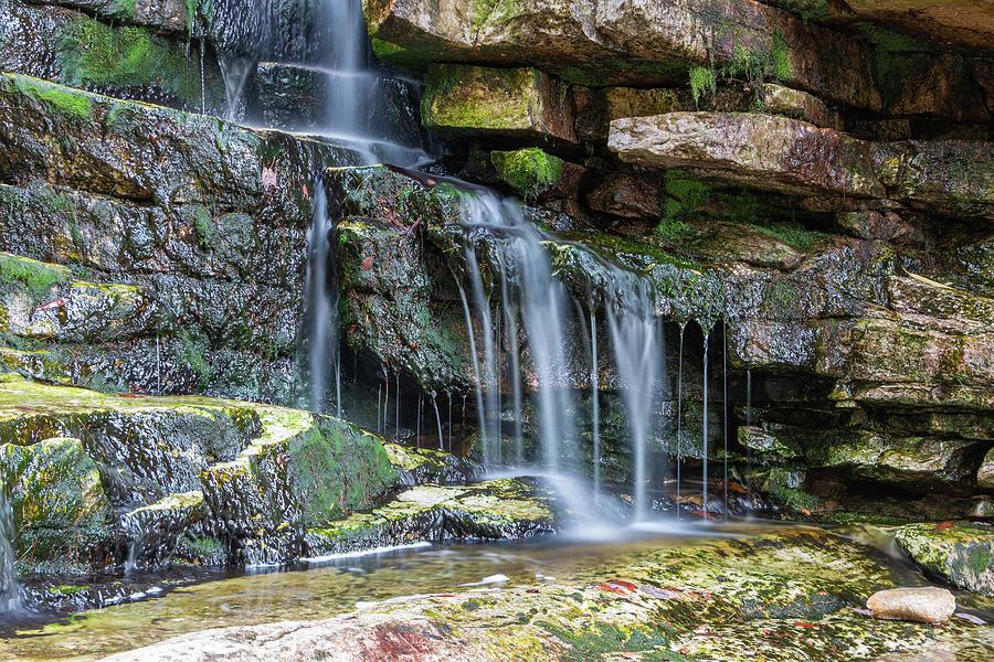 Long Exposure Photograph - Mini Waterfall At Stony Kill by Jeff Severson