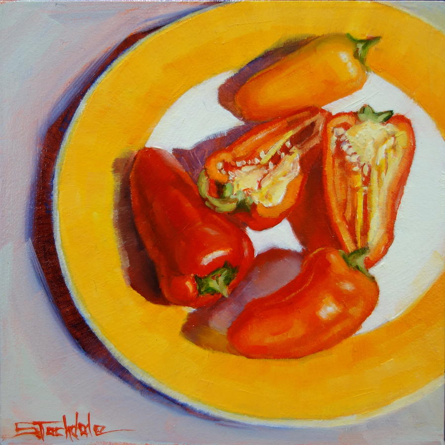 Miniature Peppers  by Margaret Stockdale