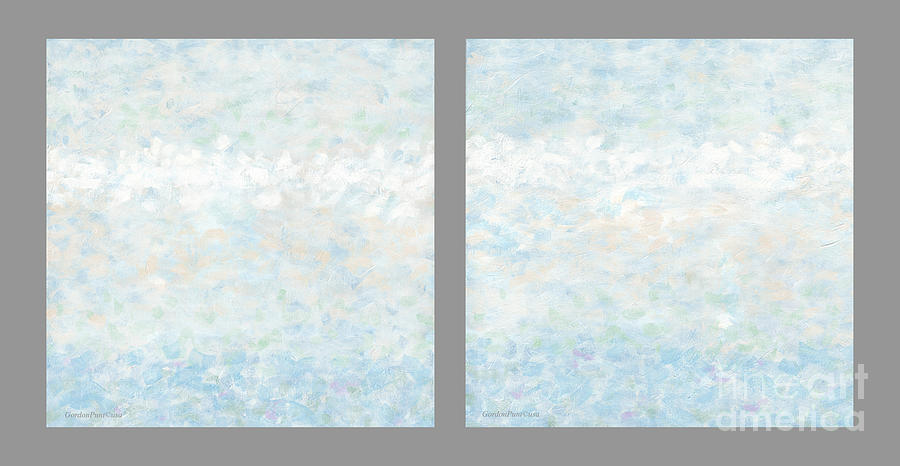 Minimal Modern Art Diptych 2 by Gordon Punt