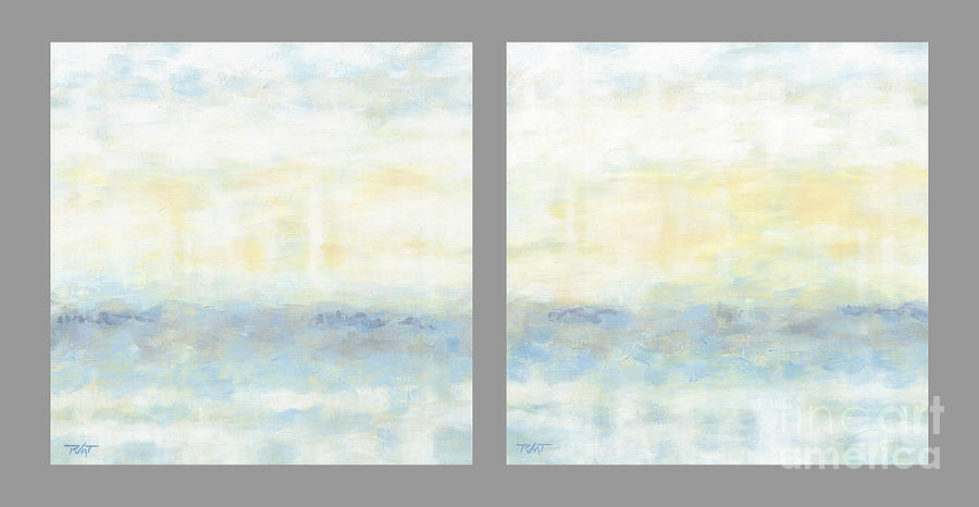 Minimalist Painting Diptych by Gordon Punt